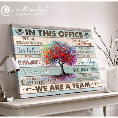 office wall decor - teamwork wall art