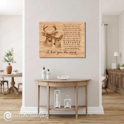 buck and doe wall art