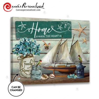 Canvaspersonalized-Coastal-Wall-Art-Gifts-For-Family-Custom-Family-Name-Nautical-Art-And-Hummingbirds
