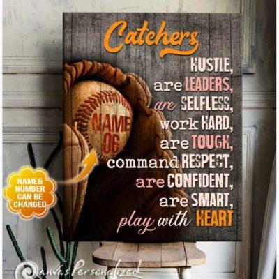 baseball catchers canvas