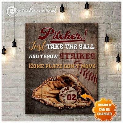 Canvas baseball pitchers