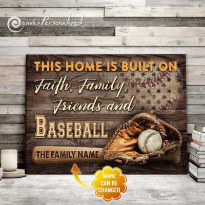 baseball family canvas