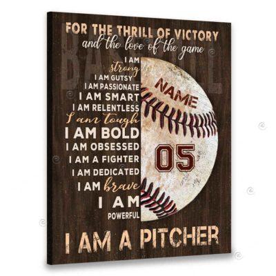 i am a pitcher canvas