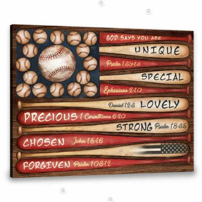 Baseball canvas art