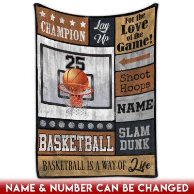 basketball fleece blanket