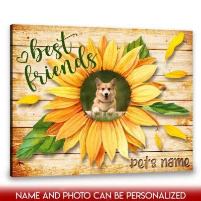 custom pet photo canvas
