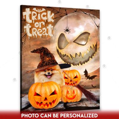 custom Halloweecustom Halloween pet canvasn pet canvas